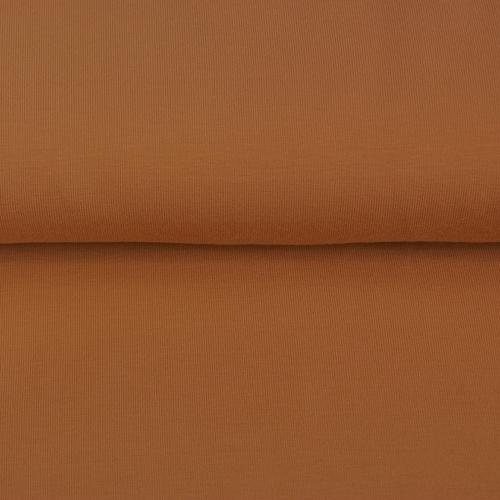 Jersey sweat molletonné or cuivré (10cm/1.29€)
