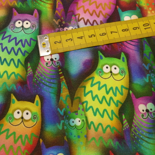"""Jersey sweat bouclettes """"chat"""" fluo by Stenzo (10cm/1.95€)"""