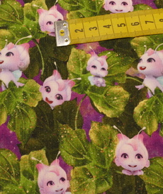 """Jersey sweat bouclettes """"little elf and friends """" by Stenzo (10cm/1.95€)"""