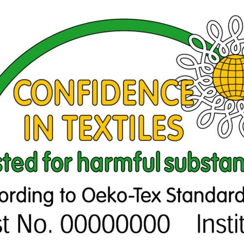 Tissu coton imprimé feuillages fond marine (10cm/0.9€)