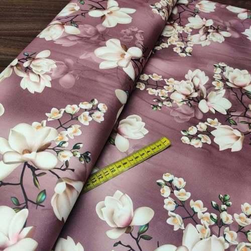 """Suédine fine extensible """"magnolia"""" vieux rose ( 50cm/4.5€)"""