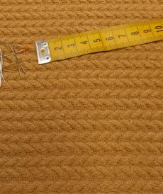 Maille torsadée duveteuse camel A la Ville By Bittoun (10cm/2.13€)
