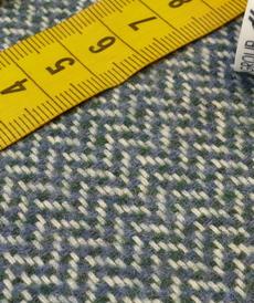 """Tissu lainage à chevrons gris/pétrole """" A la Ville"""" by Bittoun ( 10cm/2.5€)"""