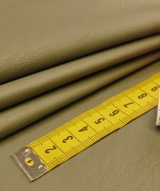 Simili-cuir vestimentaire souple vert de gris (10cm/2.15€)