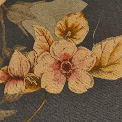 Scuba suédine extensible imprimé fleuri marine ( 10cm/1.35€)