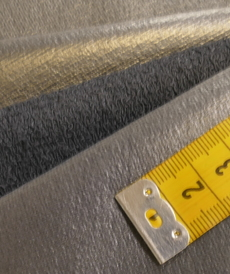 Terry bouclettes enduit pour veste marine ( 10cm/1.65€)