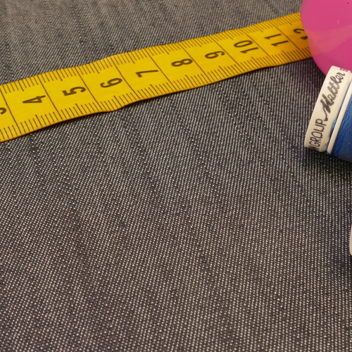 """Tissu Jeans mélangé extensible marine  """"A la Ville"""" by Bittoun (1.85€/10cm)"""
