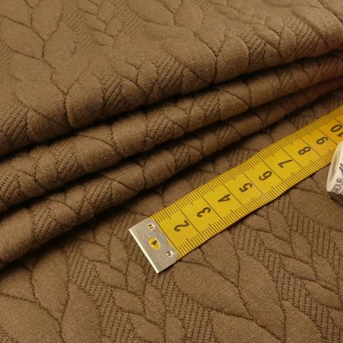 Maille jacquard torsadé marron glacé (10cm/1.25€)