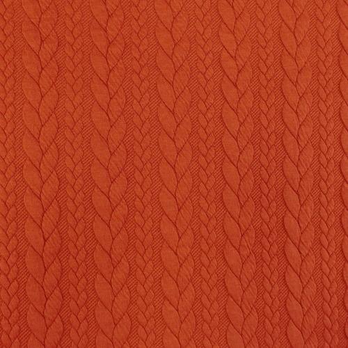 Maille jacquard torsadé rouge ancien (10cm/1.25€)