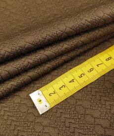 Maille jacquard petites torsades marron taupé (10cm/1.05€)