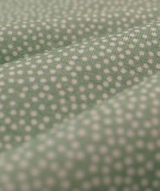 Jersey de coton vert à pois Hilco (2.00€/10cm)