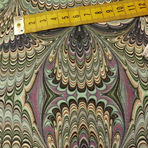 Jersey de viscose imprimé psychédélique vert ( 10cm/1.5€)