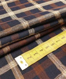 """Tissu gaze de coton """"seersucker check"""" carreaux et brillants ( 10cm/3.2€)"""