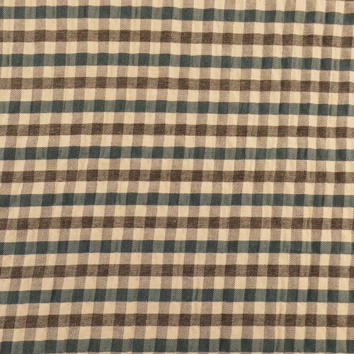 Tissu coton gaufré Seersucker Grey check ( 10cm/2.1€)