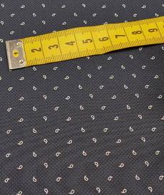 """Tissu coton qualité chemise """"Men's cotton"""" marine imprimé ( 10cm/1.9€)"""