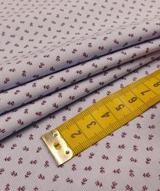 """Tissu coton stretch qualité chemise """"Men's cotton"""" bleu ciel imprimé ( 10cm/2.4€)"""
