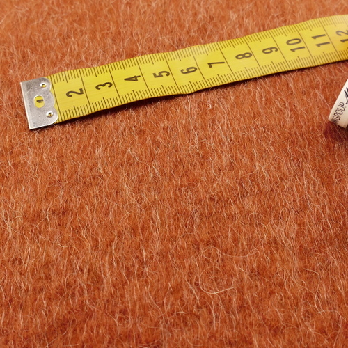 """Maille mohair lainage hiver """"tundra"""" brique ( 10cm/2.5€)"""