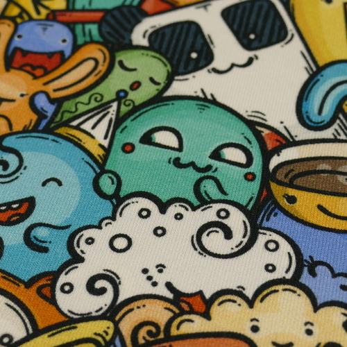 Jersey sweat bouclette Monsters squad multi-couleurs (1.9€/10cm)