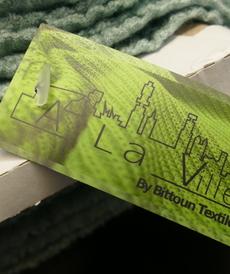Maille torsadée duveteuse Lilas A la Ville By Bittoun (10cm/2.13€)