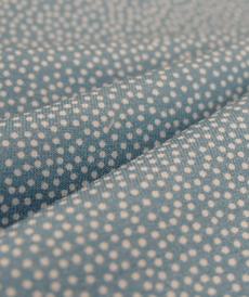 Jersey de coton bleu à pois Hilco (2.00€/10cm)