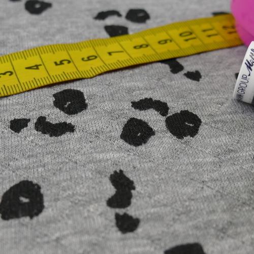 Jersey maille jacquard moucheté gris ( 10cm/1.6€)