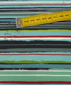 Jersey sweat bouclettes rayé multi couleurs by Stenzo (10cm/1.95€)