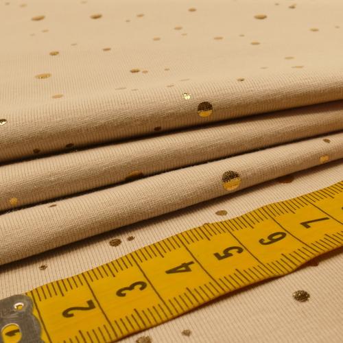 Jersey de coton à pois dorés beige clair by Stenzo (10cm/1.49€)