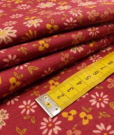Jersey sweat Alpen fleuri fuchsia (10cm/1.69€)