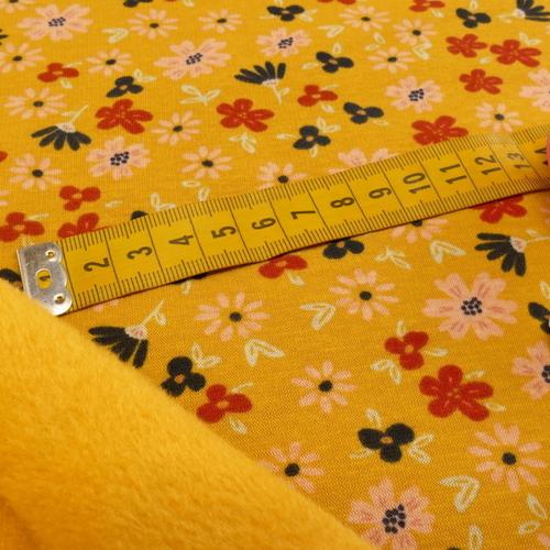 Jersey sweat Alpen fleuri ocre (10cm/1.69€)