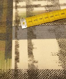 Jersey maille toucher Laine Graphique Kaki jeans by Editex (10cm/2.65€)
