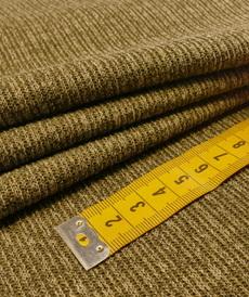 Jersey maille jacquard fines côtes kaki by Editex (10cm/1.4€)