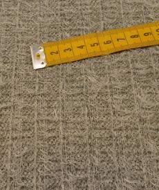 Jersey maille fantaisie poilue grise by Editex (10cm/2.15€)