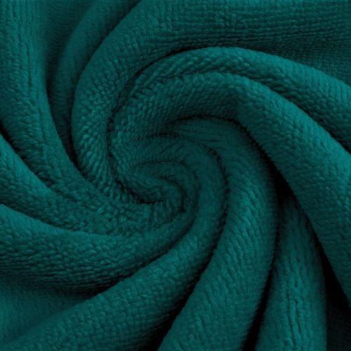 Coupon Eponge de Bambou coton turquoise 50 cm