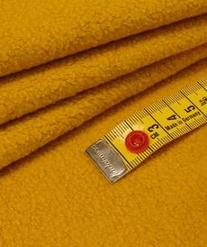 Maille polaire coton gratté jaune Pickels ( 10cm/1.39€)