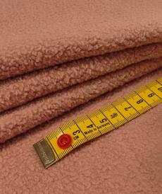 Maille polaire coton gratté Vieux Rose ( 10cm/1.39€)