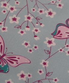 Coton imprimé papillons Hilco (1.9€/10cm)
