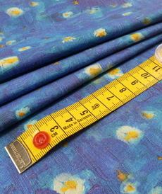 """Jersey de coton """"peinture"""" bleu/jaune by Stenzo (10cm/1.7€)"""