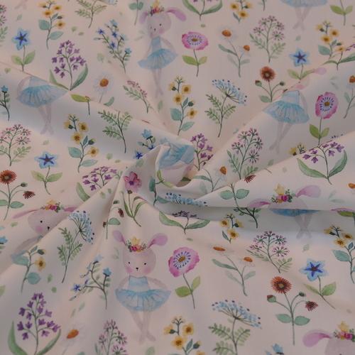 Très beau coton imprimé romantique HILCO