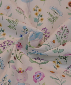 Très beau coton imprimé romantique HILCO (1.8€/10cm)