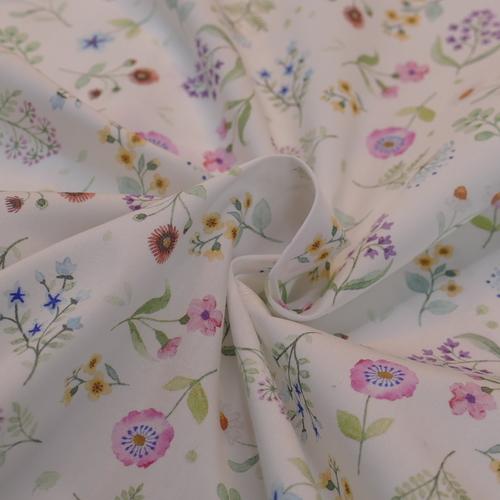 Très beau coton fleuri romantique HILCO