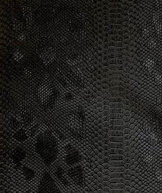 Similicuir peau de reptile noir ( 10cm/1.8€)