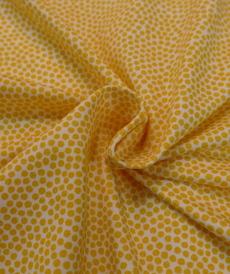 Jersey de coton à pois jaunes Hilco