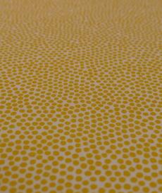 Jersey de coton à pois jaunes Hilco (2.1€/10cm)