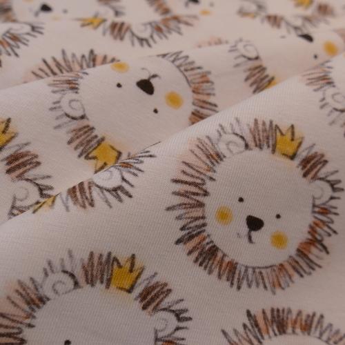 Jersey de coton petites têtes de lions Hilco