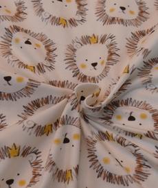 Jersey de coton petites têtes de lions Hilco (2.00€/10cm)