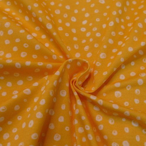 Jersey de coton jaune à bulles Hilco (2.10€/ 10cm)