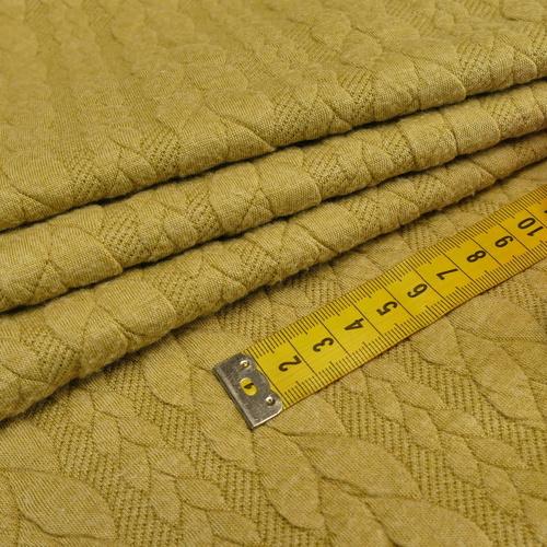 Maille jacquard torsadé Pistache '10cm/1.25€)