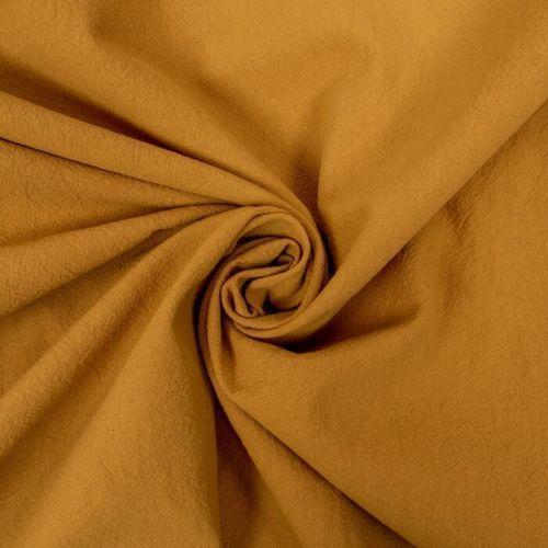 Coton lavé couleur ocre (0.85€/10cm)