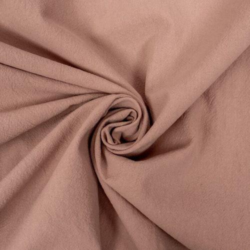 Coton lavé couleur rose poudré