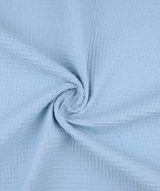 Tissu éponge nid d'abeilles coton Bleu bébé
